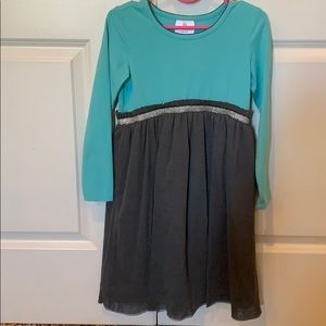 Teal & gray dress